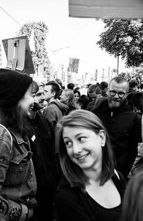 Sylvie Gassner fotografierte das Team auf der Demonstration von Fridays for Future