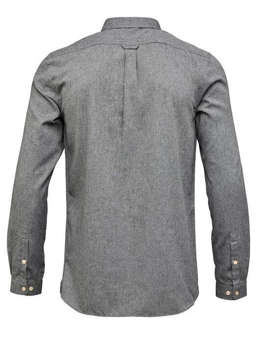 Hemden & Polos - Melange Effect Flannel Shirt [dark grey] 2