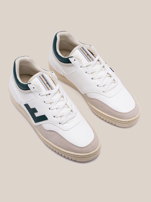 Flamingo's Life Schuhe Retro 90's Sneaker [white/green] jetzt im Onlineshop von zündstoff bestellen