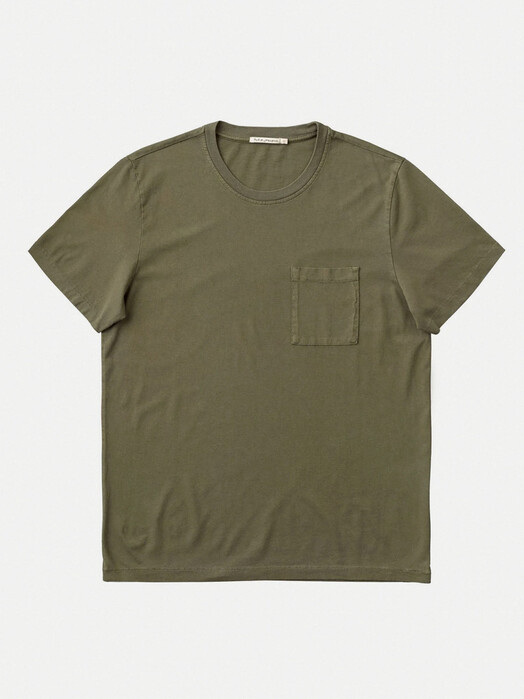 nudie Jeans T-Shirts Roy One Pocket Tee [army] jetzt im Onlineshop von zündstoff bestellen