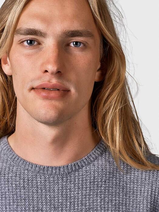 Klitmøller Collective Strickpullover Frede [light grey] jetzt im Onlineshop von zündstoff bestellen