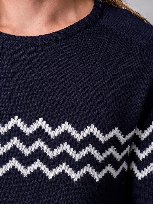 Klitmøller Collective Strickpullover Toke [navy/cream] XL jetzt im Onlineshop von zündstoff bestellen