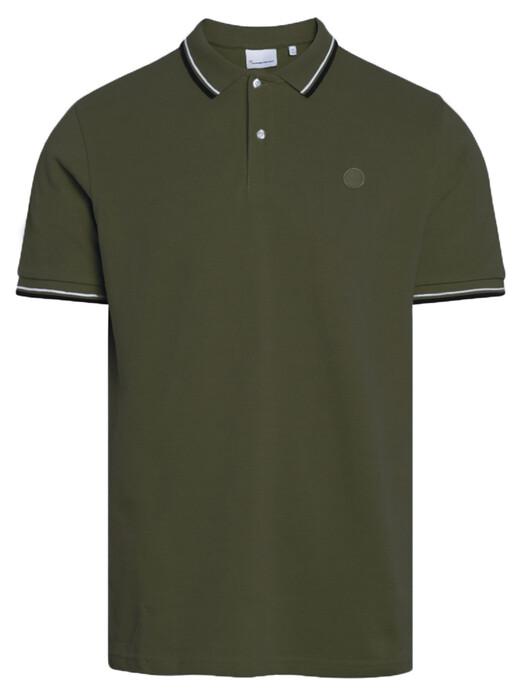 Knowledge Cotton Apparel  Hemden & Polos Rowan Basic Polo [forrest night] jetzt im Onlineshop von zündstoff bestellen