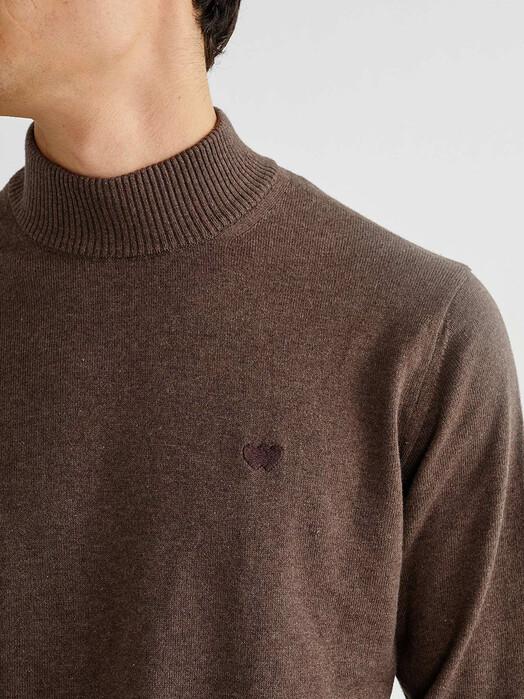 Thinking MU Strickpullover Martin Sweater [brown] jetzt im Onlineshop von zündstoff bestellen