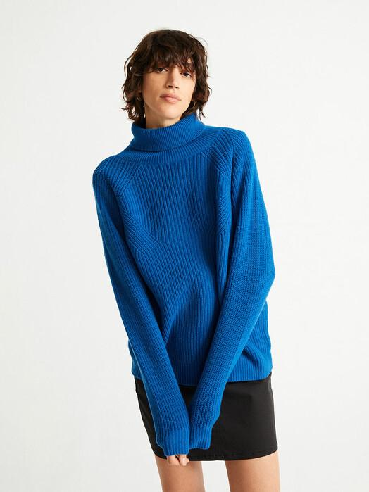 Thinking MU Strickpullover & Cardigans Matilda Knitted Sweater [blue] jetzt im Onlineshop von zündstoff bestellen