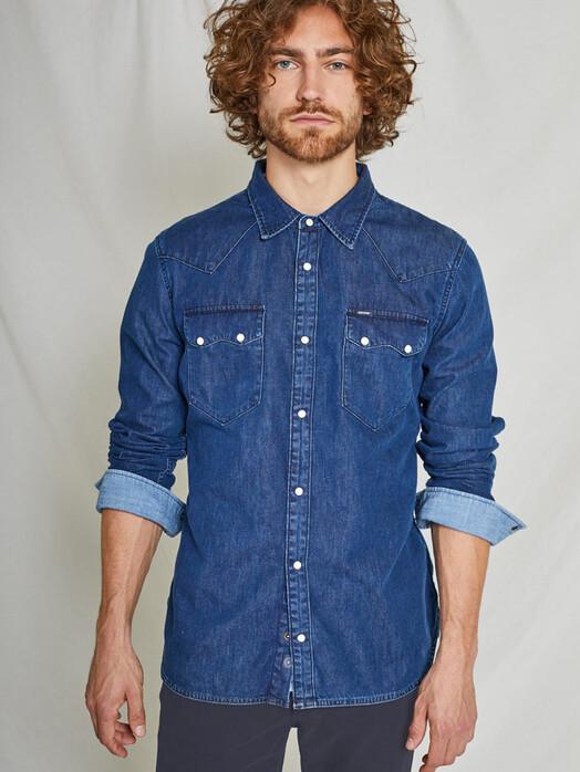 Kuyichi  Hemden & Polos Sawtooth Shirt [worker blue] jetzt im Onlineshop von zündstoff bestellen