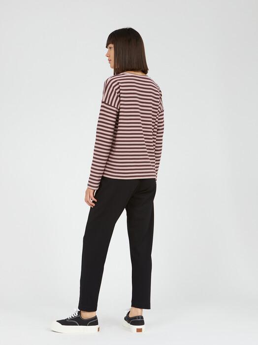 ARMEDANGELS Longsleeves Palinaa Knitted Stripe [aubergine/kinoko] jetzt im Onlineshop von zündstoff bestellen
