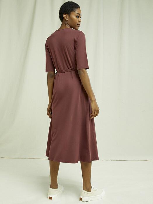 People Tree  Kleider Mishka Wrap Dress [brown] M jetzt im Onlineshop von zündstoff bestellen