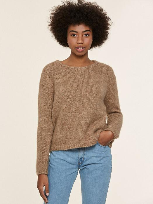 Les Racines du Ciel Strickpullover & Cardigans Givre Crew Neck Sweater [a-beige] jetzt im Onlineshop von zündstoff bestellen
