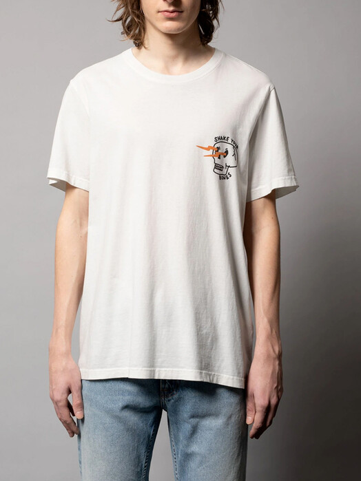 nudie Jeans T-Shirts Roy Shake Your Bones [chalk white] jetzt im Onlineshop von zündstoff bestellen