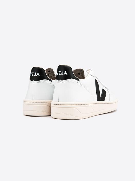 Veja Schuhe V-10 Leather [extra-white black] jetzt im Onlineshop von zündstoff bestellen