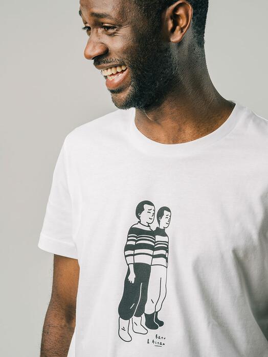 Brava Fabrics T-Shirts Twins T-Shirt [white] jetzt im Onlineshop von zündstoff bestellen