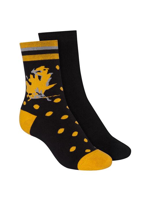 ThokkThokk  Socken  2-Pack Terry Mid Socks [black/indian summer] jetzt im Onlineshop von zündstoff bestellen