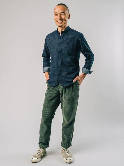 Brava Fabrics Hemden & Polos Flannel Shirt [indigo denim] jetzt im Onlineshop von zündstoff bestellen