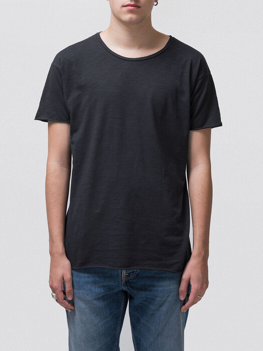 nudie Jeans T-Shirts Roger Slub [navy] jetzt im Onlineshop von zündstoff bestellen
