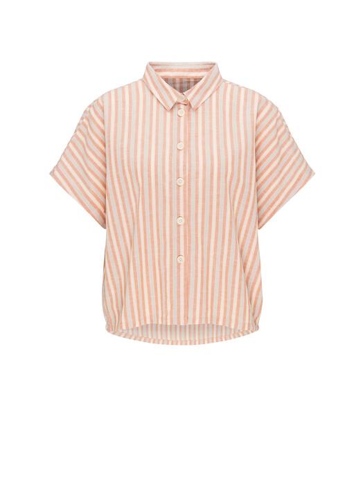 recolution  Blusen Linen Blouse Stripes [sand/coral/rose] M jetzt im Onlineshop von zündstoff bestellen