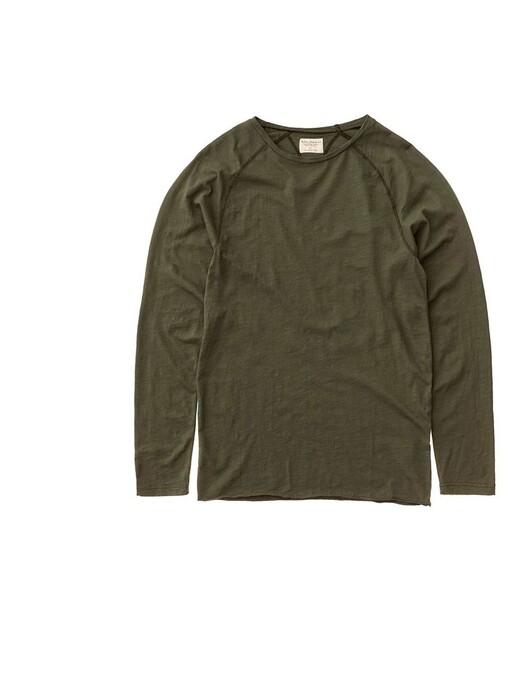 nudie Jeans Longsleeves Otto Raw Hem Slub [olive] jetzt im Onlineshop von zündstoff bestellen