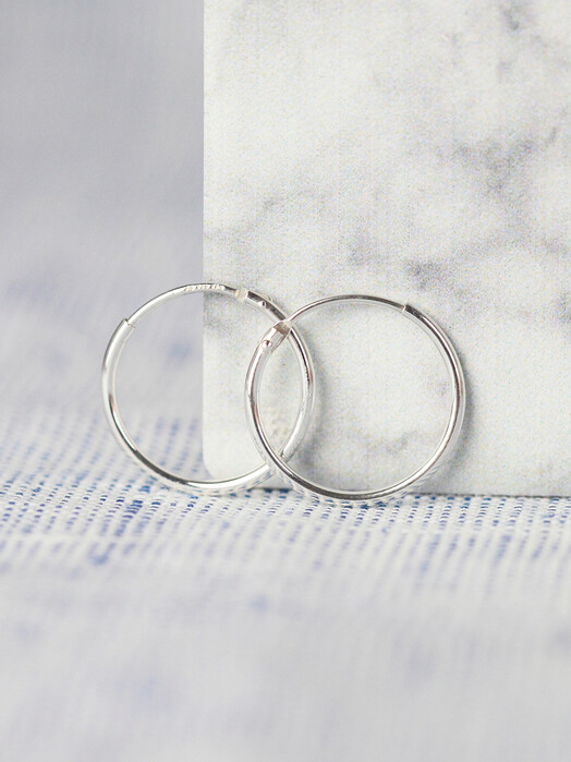 pikfine Schmuck 925er Silber Creolen 17,5 mm One Size jetzt im Onlineshop von zündstoff bestellen