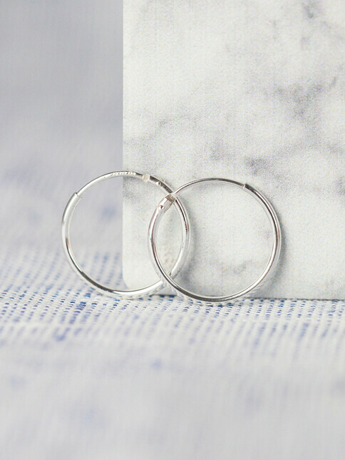 pikfine 925er Silber Creolen 17,5 mm