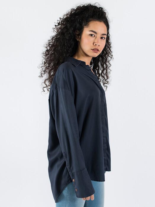 Kuyichi  Blusen Mia Tencel Shirt [dark navy] jetzt im Onlineshop von zündstoff bestellen