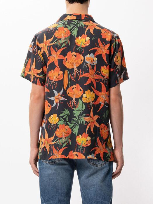 nudie Jeans Hemden & Polos Arvid Lilies [black] L jetzt im Onlineshop von zündstoff bestellen