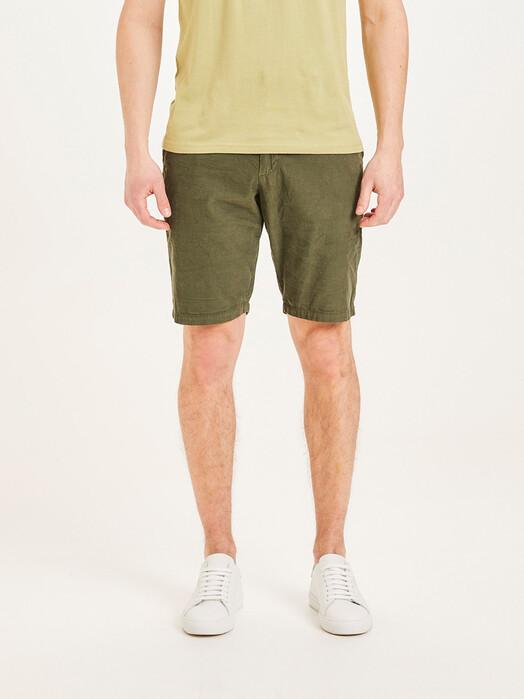 Knowledge Cotton Apparel  Shorts Chuck Baby-Cord Shorts [forrest night] jetzt im Onlineshop von zündstoff bestellen