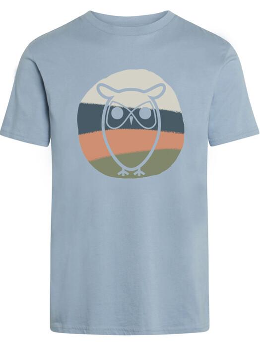 Knowledge Cotton Apparel  T-Shirts Alder Colored Owl Tee [asley blue] XL jetzt im Onlineshop von zündstoff bestellen