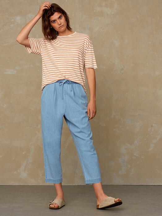 K.O.I. Jeans T-Shirts Majaji [maple sugar stripe] jetzt im Onlineshop von zündstoff bestellen