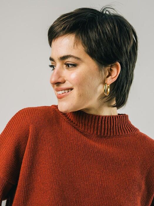 Brava Fabrics Strickpullover & Cardigans Back Buttons Sweater [terracotta] jetzt im Onlineshop von zündstoff bestellen