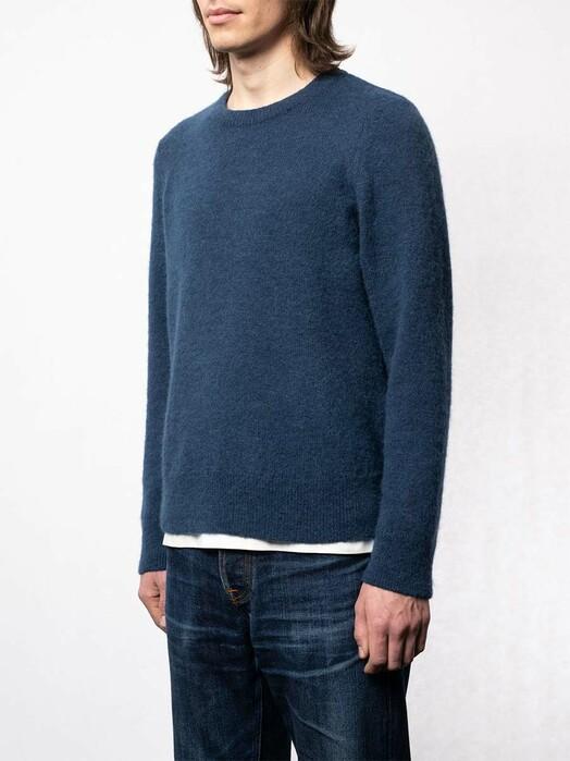 nudie Jeans Strickpullover Hampus Solid Sweater [indigo blue] jetzt im Onlineshop von zündstoff bestellen