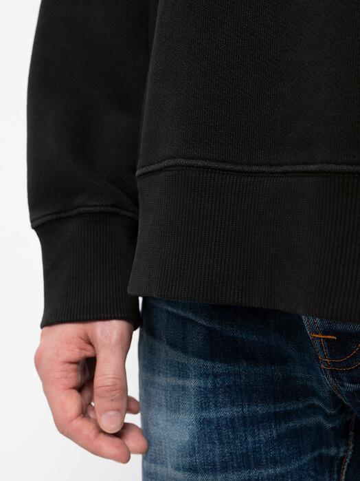 nudie Jeans Sweatshirts Lukas NJCO Circle [black] jetzt im Onlineshop von zündstoff bestellen
