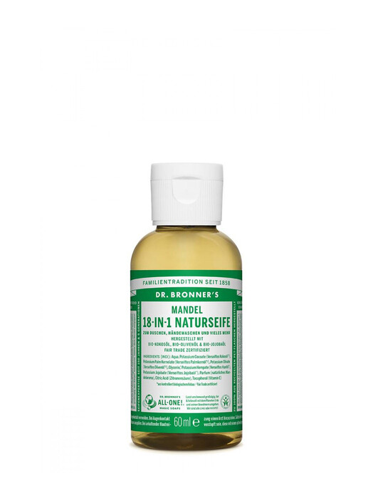 Dr. Bronner's Kosmetik Liquid Soap Mandel 60ml jetzt im Onlineshop von zündstoff bestellen