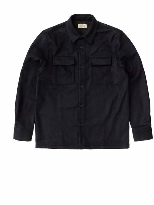nudie Jeans Hemden & Polos Sten Wool Solid [navy] jetzt im Onlineshop von zündstoff bestellen