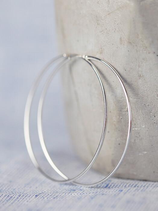 pikfine Schmuck 925er Silber Creolen 57 mm One Size jetzt im Onlineshop von zündstoff bestellen