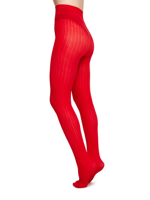 Swedish Stockings Alma Rib [red]
