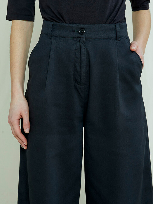 People Tree  Hosen Eve Wide Leg Trousers [black] jetzt im Onlineshop von zündstoff bestellen