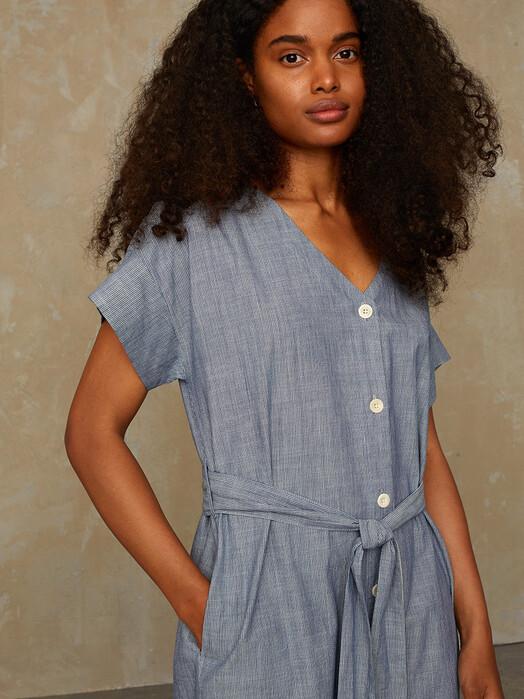 K.O.I. Jeans Kleider Mia [blue fine stripe] jetzt im Onlineshop von zündstoff bestellen