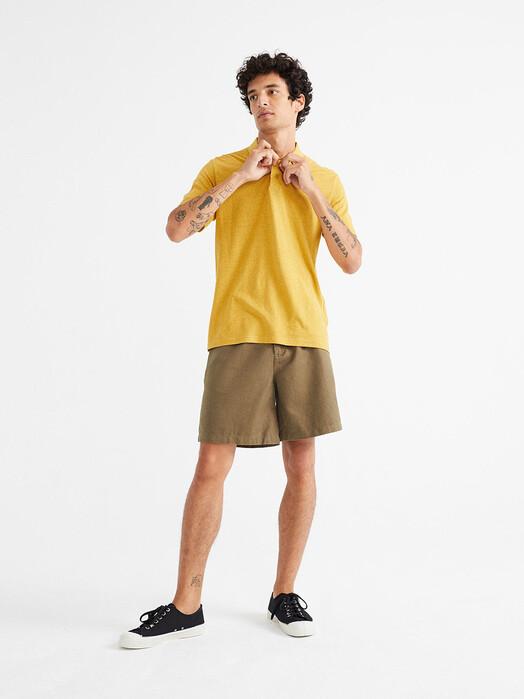 Thinking MU Hemden & Polos Hemp Polo [mustard] jetzt im Onlineshop von zündstoff bestellen