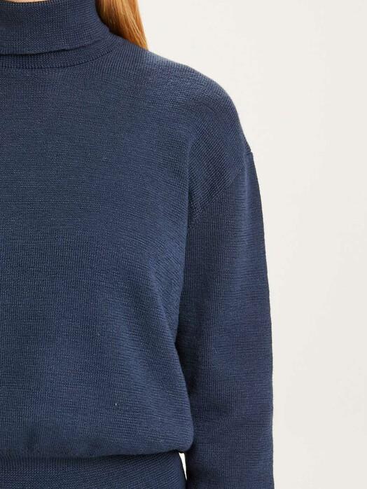 Knowledge Cotton Apparel  Strickpullover & Cardigans Myrthe Milano Stitch [total eclipse] jetzt im Onlineshop von zündstoff bestellen