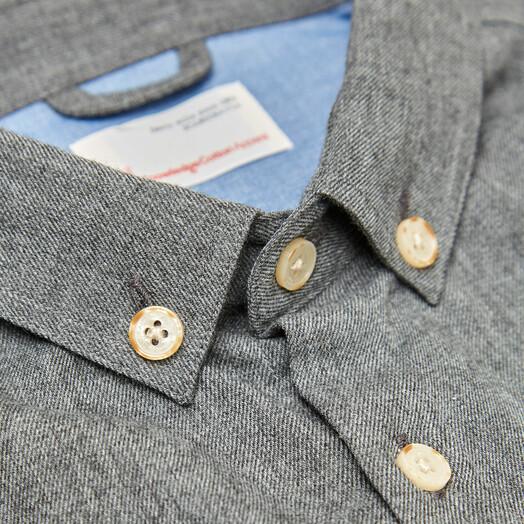 Hemden & Polos - Melange Effect Flannel Shirt [dark grey] 3