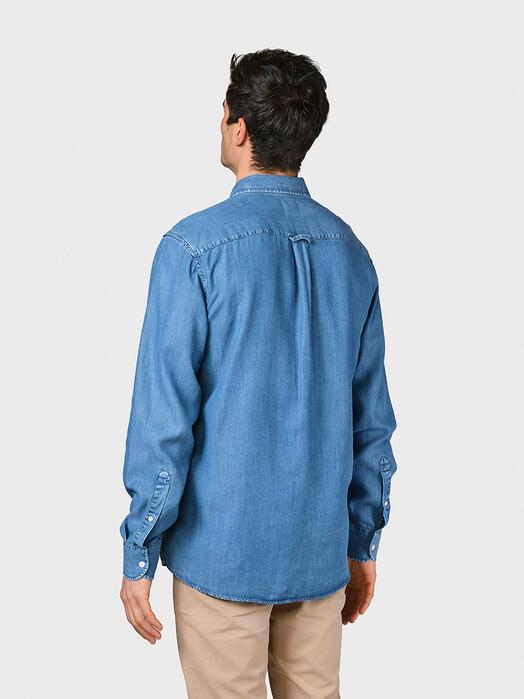 Klitmøller Collective Hemden & Polos Benjamin Chambray [light blue] jetzt im Onlineshop von zündstoff bestellen