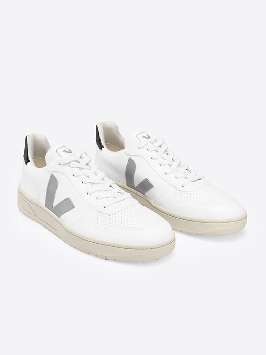 Veja Schuhe V-10 Vegan CWL [white oxford-grey black] jetzt im Onlineshop von zündstoff bestellen