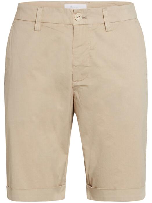 Knowledge Cotton Apparel  Shorts Chuck Poplin Shorts [light feather gray] jetzt im Onlineshop von zündstoff bestellen