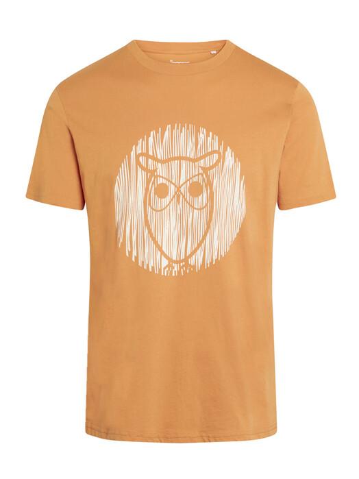 Knowledge Cotton Apparel  T-Shirts Alder Outline Owl Tee [abricut buff] jetzt im Onlineshop von zündstoff bestellen