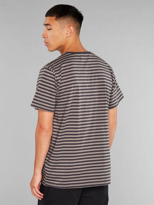 Dedicated T-Shirts Stockholm Stripes [charcoal] jetzt im Onlineshop von zündstoff bestellen