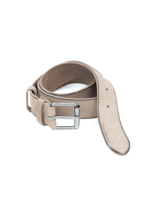 nudie Jeans Gürtel Pedersson Suede Belt [beige] 95 cm jetzt im Onlineshop von zündstoff bestellen
