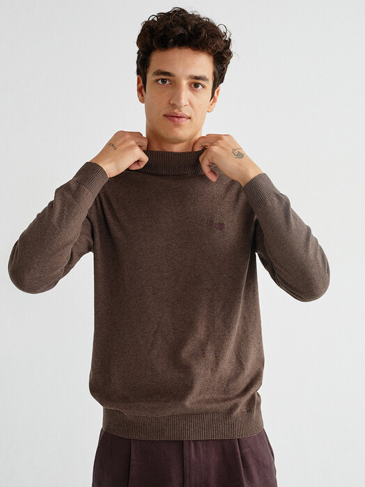 Thinking MU Strickpullover Martin Sweater [brown] L jetzt im Onlineshop von zündstoff bestellen