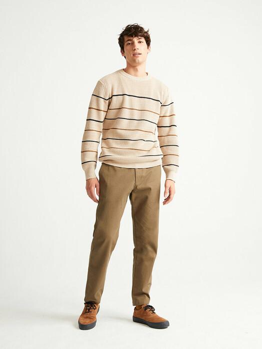 Thinking MU Strickpullover Miki Knitted Sweater [bone] jetzt im Onlineshop von zündstoff bestellen