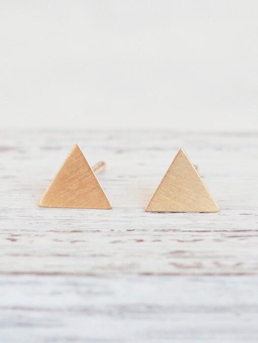pikfine Schmuck Vergoldete Ohrstecker Triangel One Size jetzt im Onlineshop von zündstoff bestellen