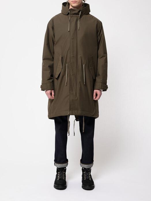 nudie Jeans Jacken & Mäntel Kajjan Waxed Parka [olive] jetzt im Onlineshop von zündstoff bestellen